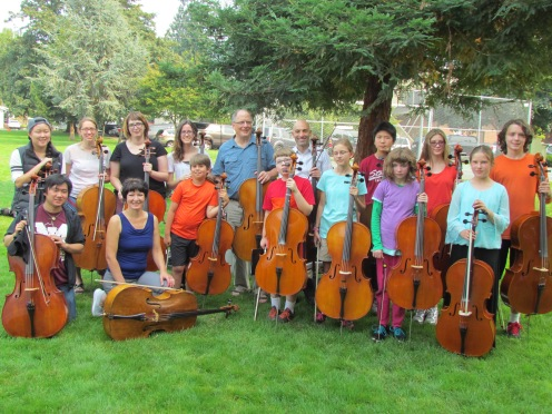 Cello group photo 2015
